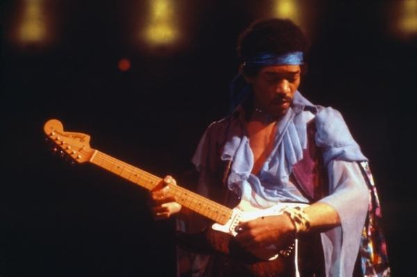 Jim Cummins' photo of Jimi Hendrix performing at Madison Square Garden in 1969 was used by <em>Life </em>magazine the following year for the guitarist's obituary.