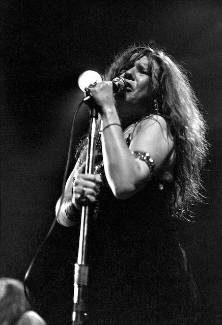 Janis Joplin at Fillmore East in February 1969.