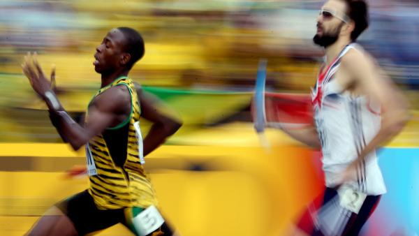 Javon Francis at the IAAF World Championships in Moscow in August. Anchoring the 4x400 relay, Francis pulled his team from fifth place to second.