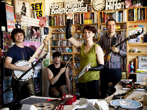Amanda Palmer and The Grand Theft Orchestra at NPR's Tiny Desk on Sept. 17, 2012.