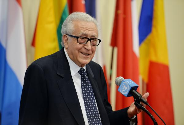 Lakhdar Brahimi will step down at the end of this month from his post as United Nations Special Envoy to Syria. (Stan Honda/AFP/Getty Images)