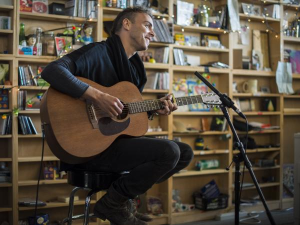 Asaf Avidan at NPR Music's Tiny Desk on Feb. 18, 2014.