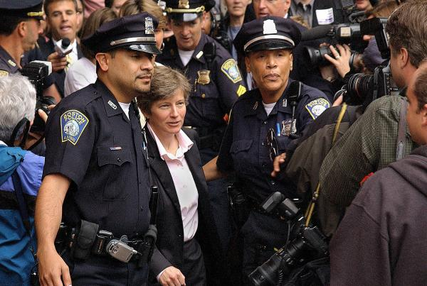 The morning of May 17, 2004, attorney Mary Bonauto headed into City Hall in Boston, where some of the plaintiffs in the state's same-sex marriage suit were applying for a marriage license. There were supporters and opponents on the plaza that day.