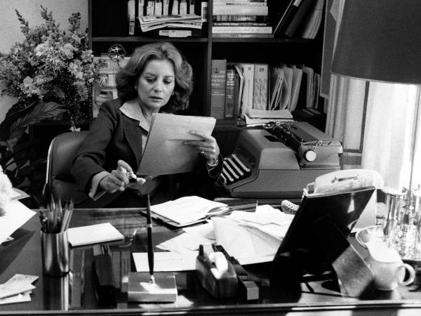 Newscaster Barbara Walters prepares for her debut on ABC's evening news on October 4, 1976.
