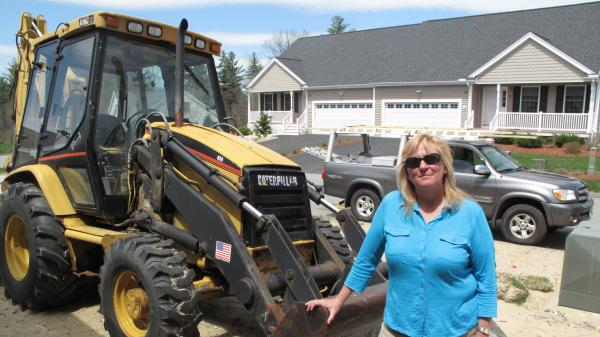 De Desharnais of Ashwood Development in New Hampshire says homebuilding activity for her company has slowed sharply since the housing crash. But she's hopeful that business will pick up.