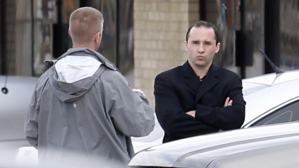 James Everett Dutschke, seen here as investigators searched his house last spring, was convicted of sending letters containing the poison ricin to President Obama and other officials.