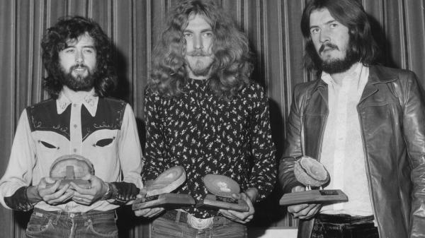 "Jimmy Page, Robert Plant, and John Bonham of Led Zeppelin, in 1970. A new lawsuit says the group borrowed from another band's work without crediting it, for the huge hit ""Stairway to Heaven."""