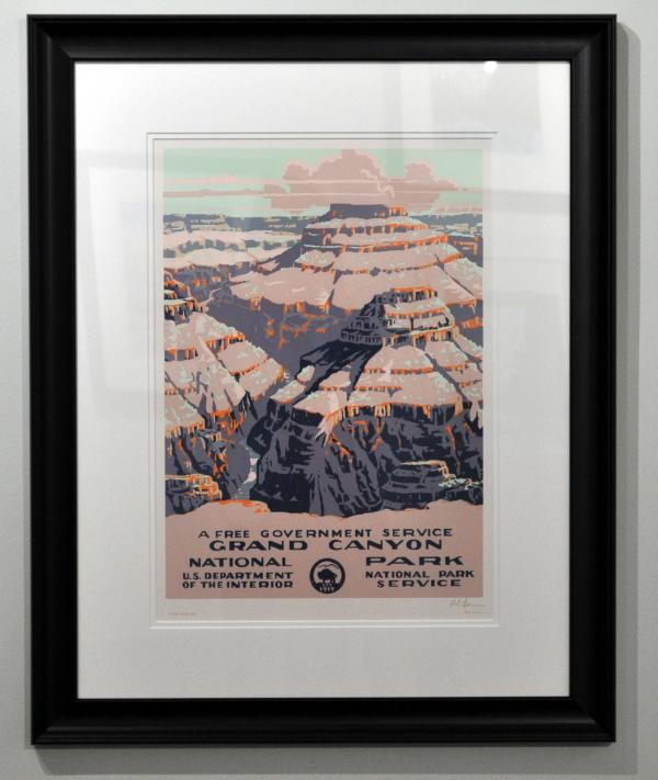Grand Canyon serigraph reproduction.