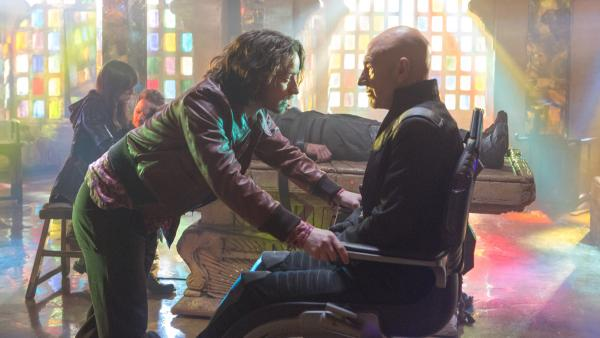 James McAvoy as Charles Xavier and Patrick Stewart ... also as Charles Xavier in <em>X-Men: Days Of Future Past. </em>