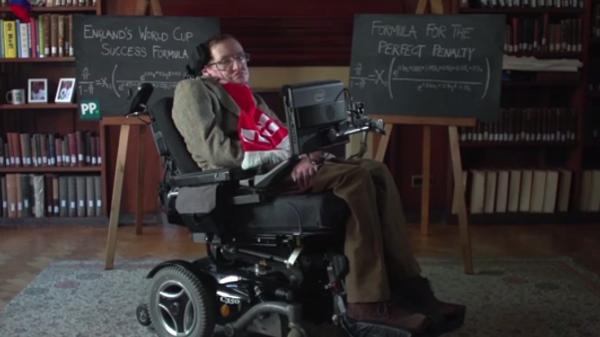 "Physicist Stephen Hawking has revealed ""England's World Cup Success Formula,"" which he says was derived by using general logistic regression analysis."