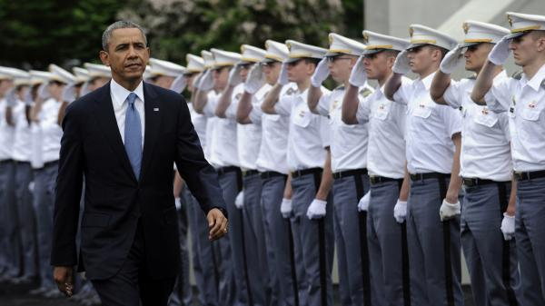 In his commencement address to the Military Academy at West Point Wednesday, President Obama condemned isolationism but spent more time outlining the hazards of intervention.