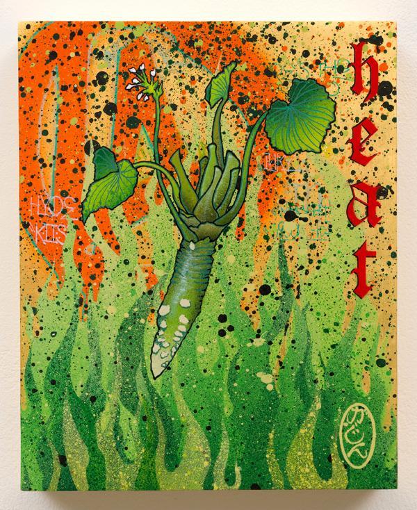 Gajin Fujita painted a portrait of another kind of LA heat: wasabi.