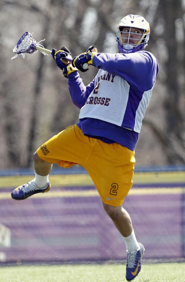 Miles Thompson of the SUNY-Albany Great Danes broke the record for goals in a season this year — a season which also saw his younger brother and teammate, Lyle, break the record for overall points.