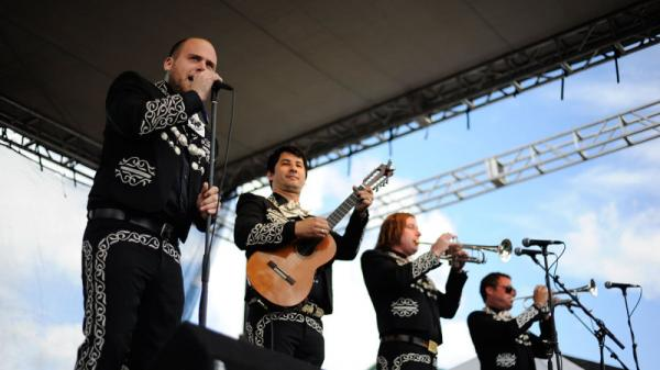 Mariachi El Bronx performs live at the 2011 Sasquatch Music Festival.