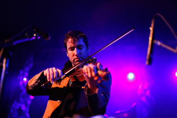 The violinist Andrew Bird — also a composer, and singer and accomplished whistler — headlined NPR Music's SXSW Showcase. He performed largely from his new album, <em>Break It Yourself</em>, but also found space for older classics.