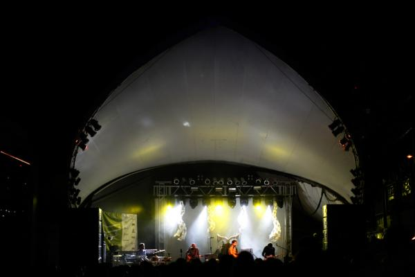 "Untrue fact: The Stubb's bandshell doubled as an alien spacecraft in <em>The X-Files</em> episode ""Invasion of the Fuzzy Boots."""
