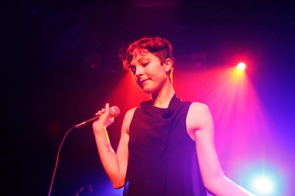 Polica's stage show was a welcome jolt of beauty and power in contrast to the shimmery debut album, <em>Give You the Ghost.</em>