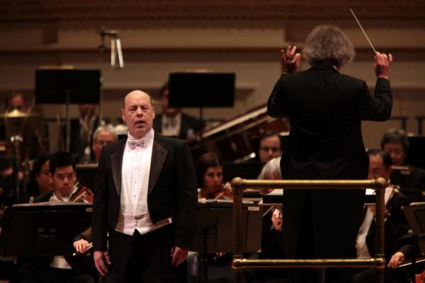 Baritone Sanford Sylvan sings John Adams' 'The Wound-Dresser' with the orchestra at its Carnegie Hall debut.