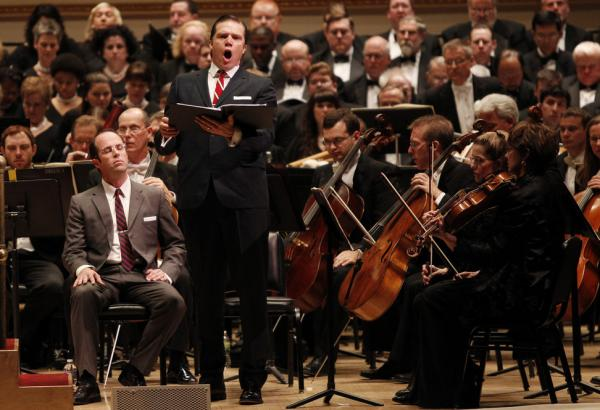 "Baritone Rod Gilfry sings the role of LBJ as members of the Dallas Symphony Orchestra and Chorus perform ""August 4, 1964"" by Steven Stucky, with a libretto by Gene Scheer."