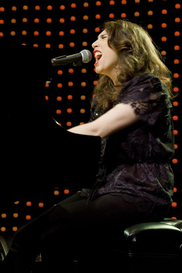 Regina Spektor, performing live at Le Poisson Rouge in New York City, May 31, 2012, only stepped away from the piano for two songs.
