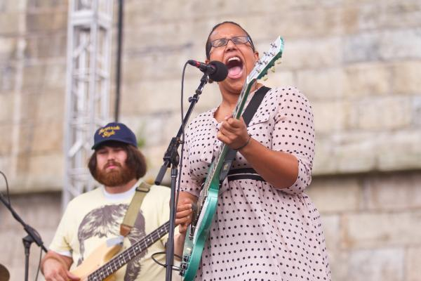 Making its first appearance at the Newport Folk Festival, Alabama Shakes rattled the Fort Stage to an ecstatic audience.
