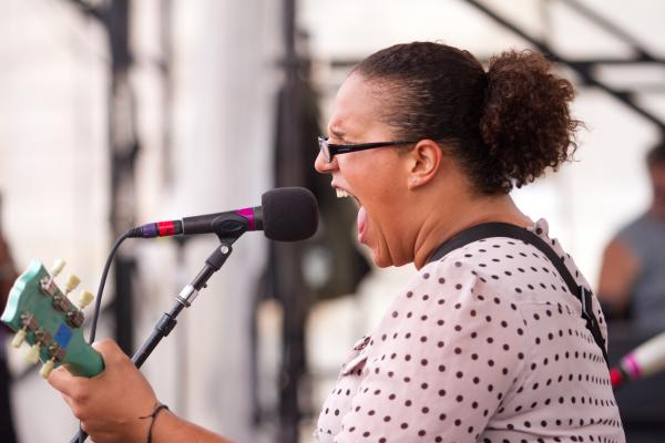 After the band's thunderous set, Brittany Howard later lent her vocals to My Morning Jacket's glorious headlining set.