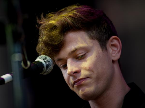 Perfume Genius performs live at Celebrate Brooklyn from the Prospect Park Bandshell on July 31.
