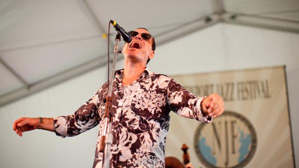 Kurt Elling performs at the 2012 Newport Jazz Festival.
