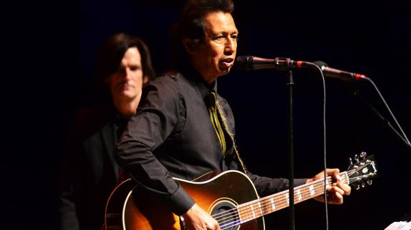 Alejandro Escovedo performs on <em>Mountain Stage</em>.