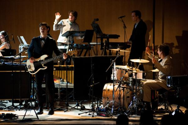 For this special concert, Efterklang was also joined by Peter Broderick on piano, Katinka Fogh Vindelev on vocals, and special guest Budgie on drums.
