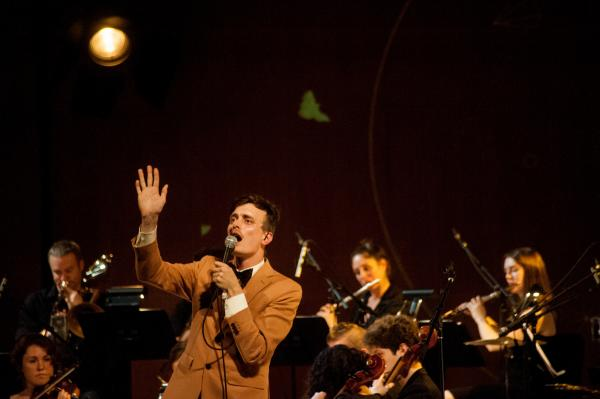 Efterklang performs with Wordless Music Orchestra at the Grace Rainey Rogers Auditorium at The Metropolitan Museum of Art.