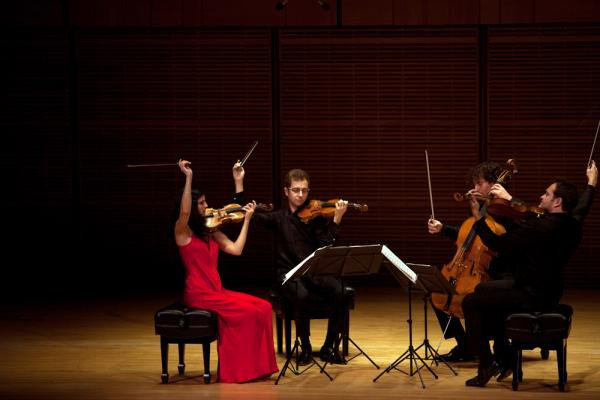 The Belcea Quartet at Zankel Hall. They were scheduled for three nights of concerts, but Hurricane Sandy got in the way of one performance. Instead the quartet played a for hurricane victims in a shelter in Brooklyn.