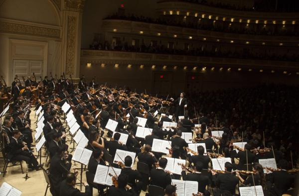 Dudamel brought a challenging program of works that show off his orchestra, including the incendiary <em>La Noche de los Mayas</em> by the enigmatic and hard-drinking Mexican composer Silvestre Revueltas. The piece ends with chaotic percussion and the blowing of a conch shell.