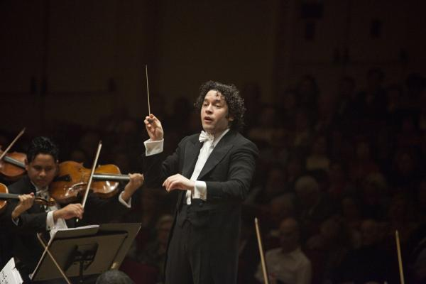Gustavo Dudamel says that conducting this orchestra is like being in a family. He has known most of these young players (the oldest is about 30) since they were all kids.
