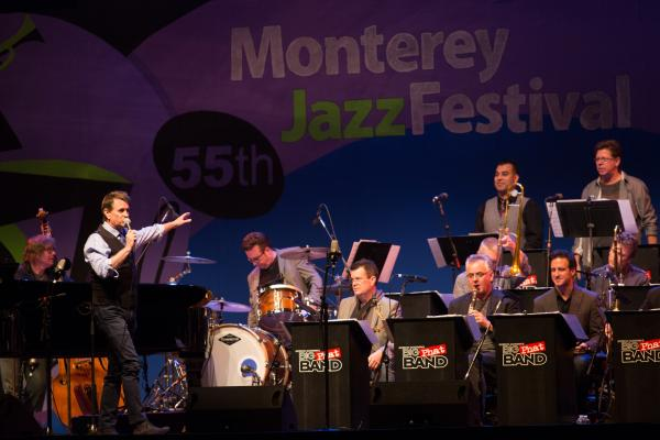 Gordon Goodwin's Big Phat Band in concert at the Monterey Jazz Festival.