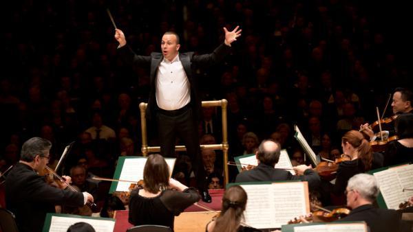 Yannick Nezet-Seguin leads the Philadelphia Orchestra, in concert at Carnegie Hall.