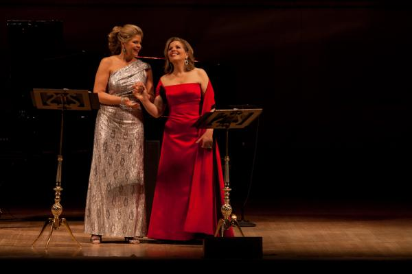 "Graham and Fleming ended the evening with two gorgeous — and popular — opera duets: the ""Barcarolle"" from Offenbach's <em>The Tales of Hoffman</em>, and a rapturous rendition of the ""Flower Duet"" from Delibes' Lakmé, made famous in the British Airways TV commercial."