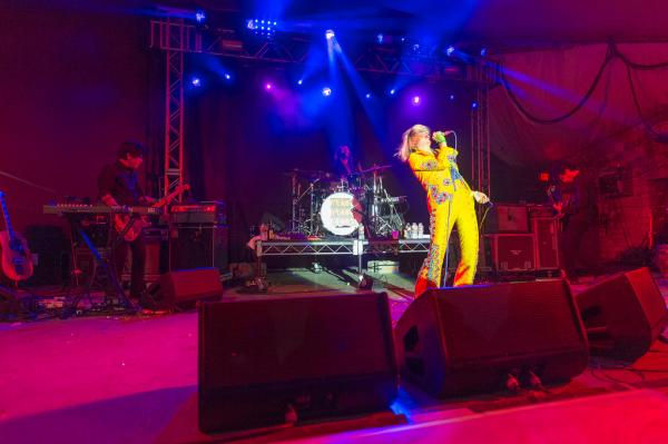Karen O, Nick Zinner and Brian Chase's performance at NPR Music's SXSW showcase was the band's only appearance at this year's festival.
