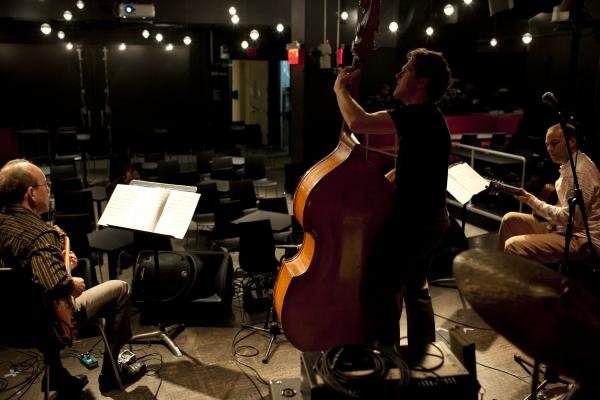 The Rosetta Trio at soundcheck.