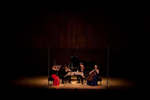 Alone on the Zankel Hall stage, the Elias String Quartet plays the dramatic String Quartet No. 2 by Leos Janacek. Written in the final year of the composer's life, the music is fueled by the passion he held for a woman 37 years his junior.