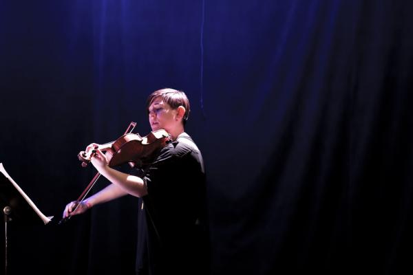 Violist Nadia Sirota is a long-time Muhly collaborator. She performed Muhly's Etude 3, a piece Muhly wrote for her which also appears on her latest album, <em>Baroque</em>.