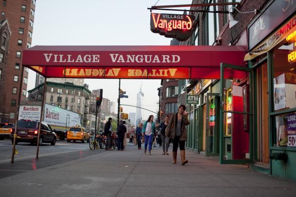 Outside the Village Vanguard.