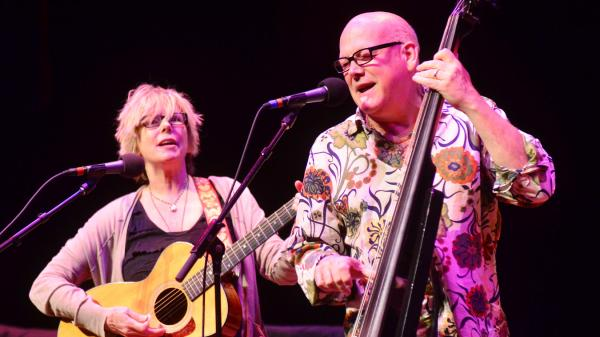 Marti Jones and Don Dixon perform on <em>Mountain Stage</em>.