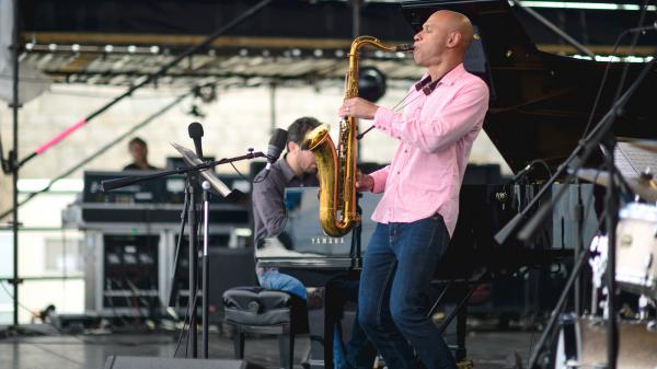 The Joshua Redman Quartet performs at the 2013 Newport Jazz Festival.
