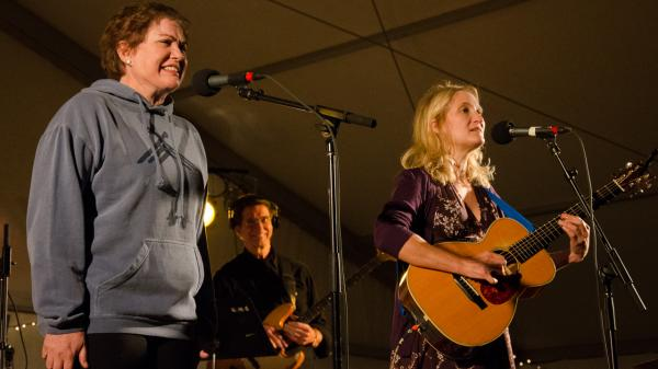 Julia Sweeney and Jill Sobule perform live on <em>Mountain Stage</em>.