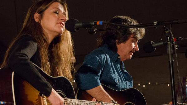 Matraca Berg performs live on <em>Mountain Stage </em>with her husband, Jeff Hanna of the Nitty Gritty Dirt Band.