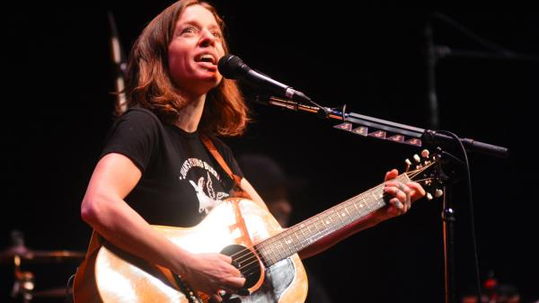 Ani DiFranco performing live on <em>Mountain Stage</em>.