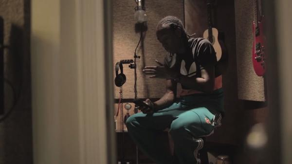Starlito at work in Tuff Cut Sound in Burbank, Calif., in July.