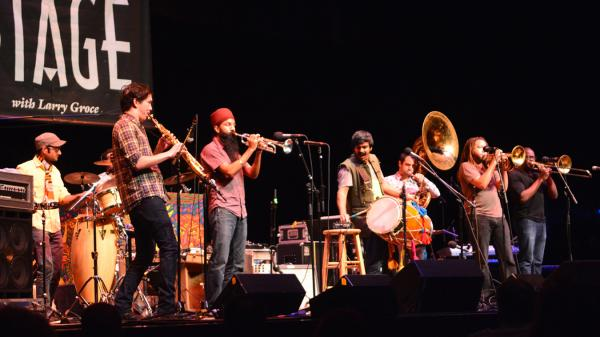 Red Baraat performs live on <em>Mountain Stage</em>.