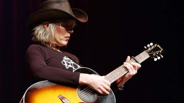 Lucinda Williams performs live on <em>Mountain Stage</em> in 2001.